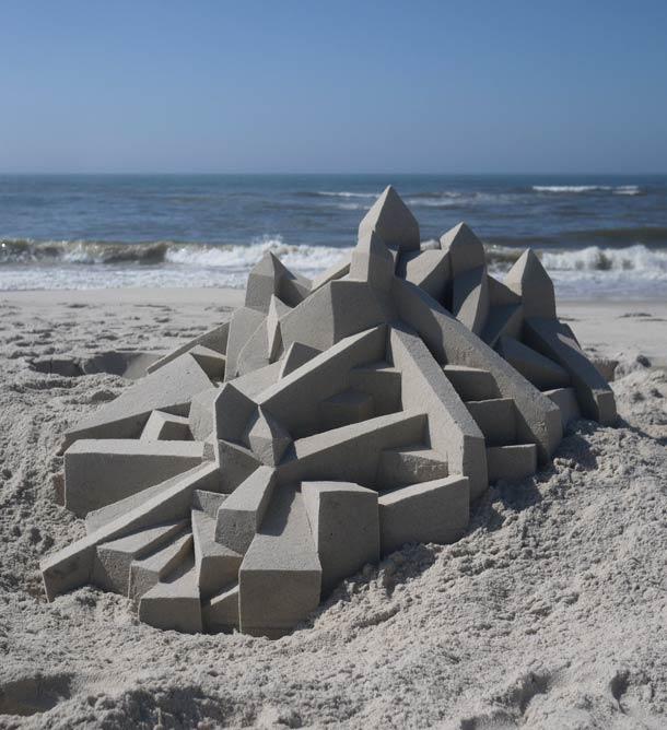 Geometric-Sand-Castles-by-Calvin-Seibert-3
