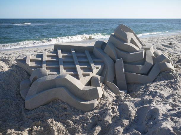 Geometric-Sand-Castles-by-Calvin-Seibert-4